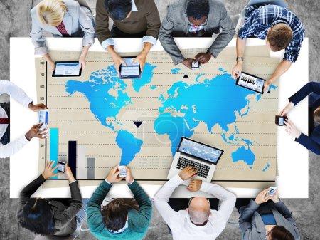 Photo pour Global Business croissance, mondialisation du monde - image libre de droit