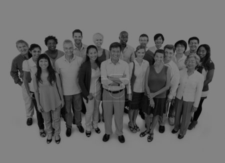 multiethnic group of business people