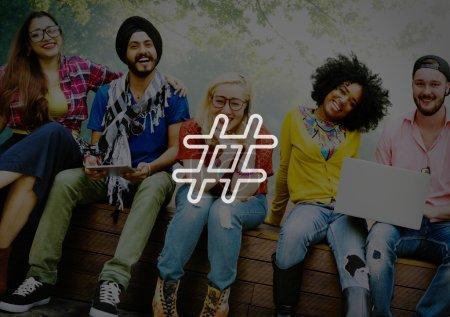 Hashtag Icon, Social Media Concept