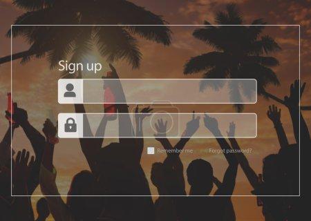 Sign Up Registration Security Concept