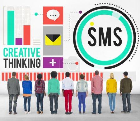 Digital Messaging Communication Concept