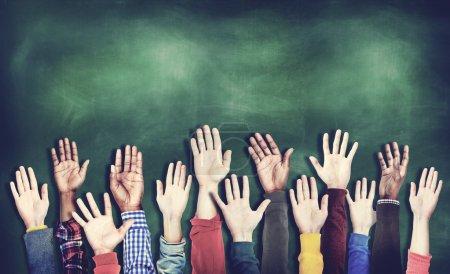 Hands Raised Togetherness