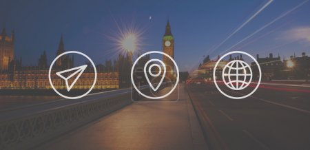Travel and Location Navigation Concept