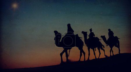 Three Kings in  Desert