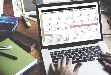 Calender Planner Organization Concept