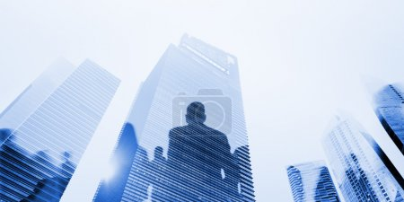 Silhouettes of Business People Walking