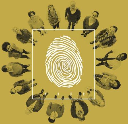 Diverse People and Fingerprint