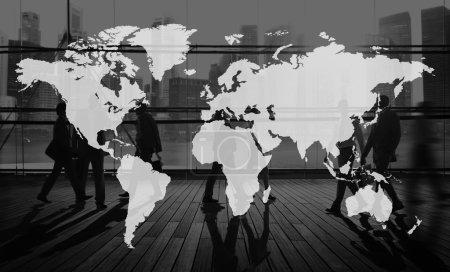 Photo pour Monde mondial de cartographie mondialisation, terre Concept International - image libre de droit