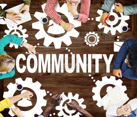 Community Connection, Social Media Concept