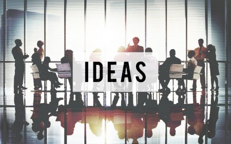 Photo for Professional business team Silhouettes, Office Concept - Royalty Free Image