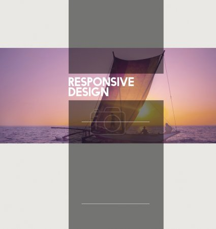 Photo for Responsive Design. Interface Browser Programming Concept - Royalty Free Image