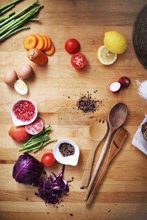 Ingrédients pour la cuisine dans la cuisine