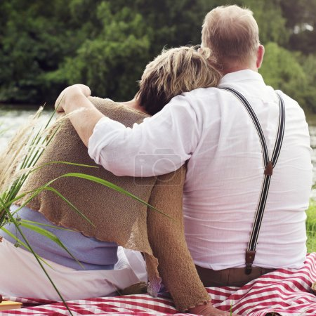 Mature Couple On Date Outdoors