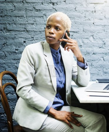 Businesswoman Concentrates on work