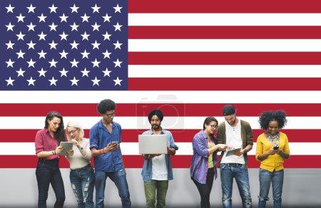 American Flag Concept
