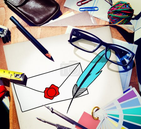 Mail Correspondence Concept