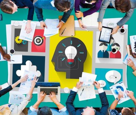 Brainstorming Sharing Teamwork Planning Concept