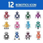 Grafické robota ikony