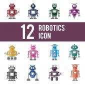 Ikony barevné roboty