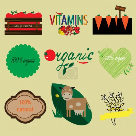 Organic and natural labels set