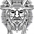 Ancient Warrior Tribal Mask Vector illustration