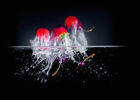 Fruit Splashing into wate