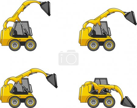 Skid steer loaders. Heavy construction machines.