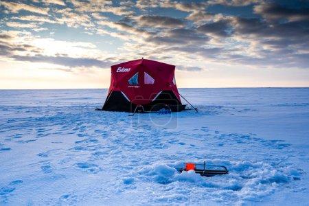 Brooks Alberta Canada, February 20 2020:  An ice f...