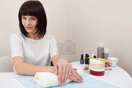 Woman at the nail salon