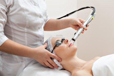 Woman in healthy spa salon