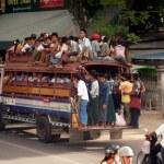 Mandalay,Myanmar - July 2 : A lot of people having...