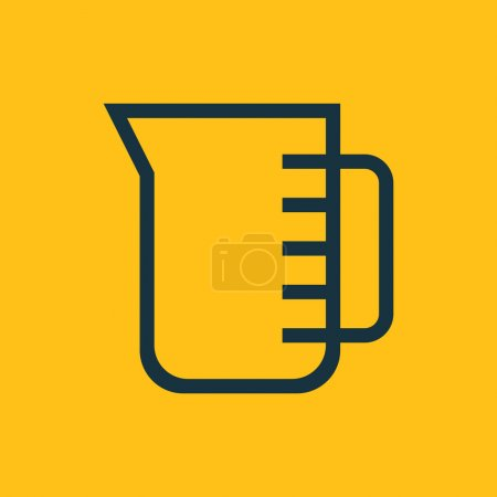 Vector illustration of measuring cup icon...