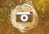 Retro fotoaparátu pohled shora
