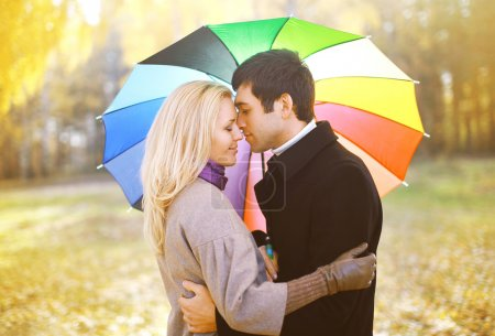 Autumn, love, relationships and people concept - sensual young c