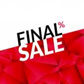 Final sale vector banner background Promotional marketing poster Final sale background for market shop store