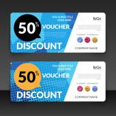 Gift voucher market offer template layout with colorful modern triangle business design Certificate special discount buy coupon