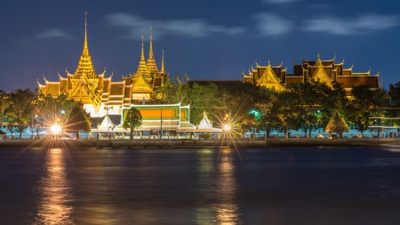 Photo for The Thailand temple nearby to the river - Royalty Free Image