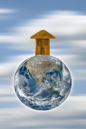Photo pour La Terre est notre maison - y compris les éléments fournis par la NASA - image libre de droit