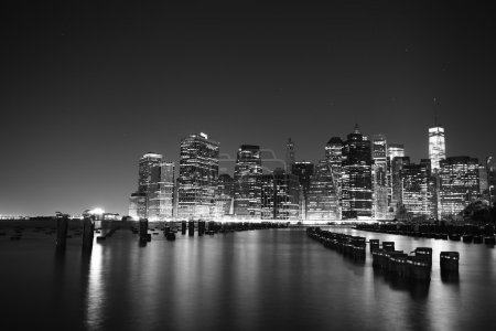 Photo for Towers on Manhattan's Island at night. New York City. - Royalty Free Image