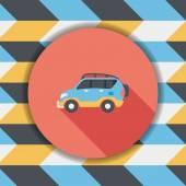 Doprava sportovní užitková vozidla ploché ikony s dlouhý stín