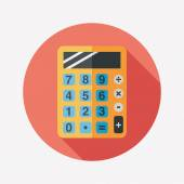 calculator flat icon with long shadoweps10