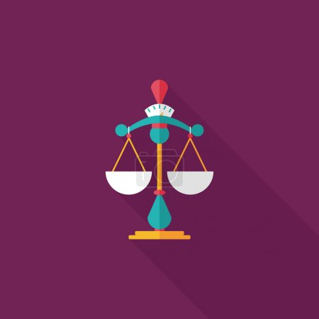 Illustration for Balance flat icon with long shadow - Royalty Free Image