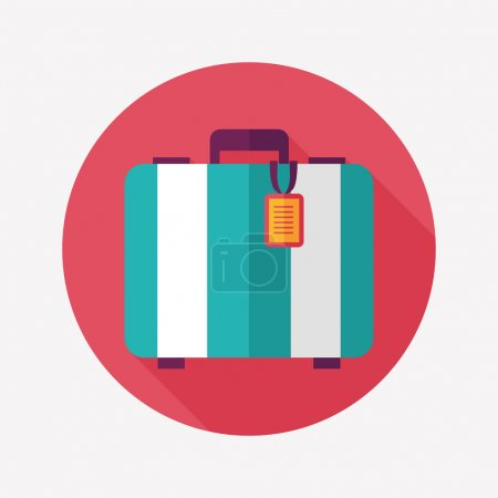 Illustration for Vintage travel suitcases, flat icon with long shadow - Royalty Free Image