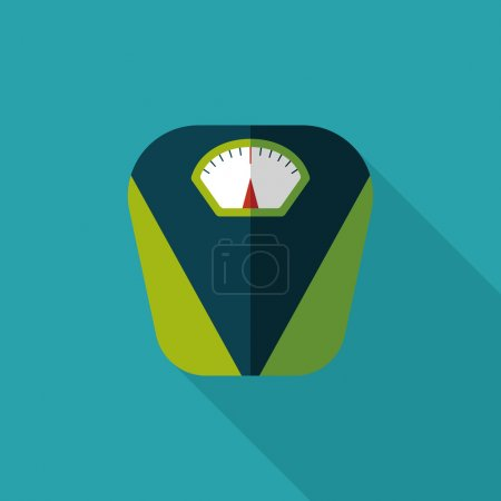 Weight scale flat icon with long shadow