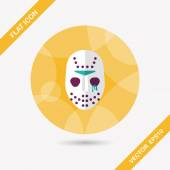 Halloween mask flat icon with long shadoweps10