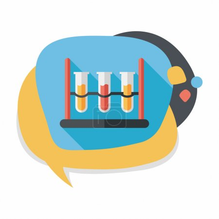 Illustration for Test tube flat icon with long shadow - Royalty Free Image