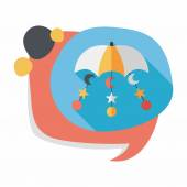 Baby crib hanging toy flat icon with long shadowEPS 10