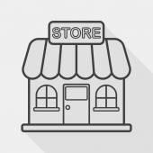 Budování obchod obchod ploché ikony s dlouhý stín, eps10