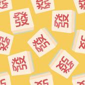 Chinese mahjong flat iconeps10 seamless pattern background
