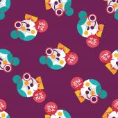 24 hours customer phone service flat iconeps10 seamless pattern background